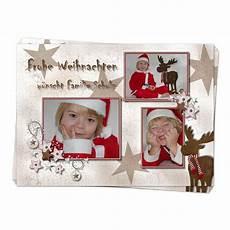 weihnachtskarte quot rentier quot mit foto drucken lassen