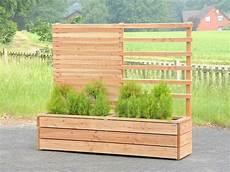 Sichtschutz Terrasse Pflanzkübel - pflanzkasten holz mit rankgitter spalier sichtschutz