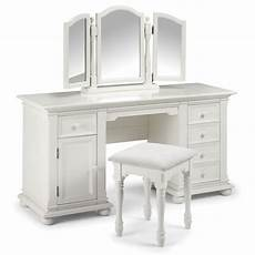 bedroom style with white dressing table with glass top