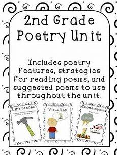 poetry worksheets for second grade 25288 poetry unit 2nd grade by student sized teachers pay teachers