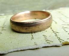 gold wedding band rustic men s ring 14k by jcmetalsmithjewelry