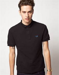 fred perry fred perry pop polo shirt in black for