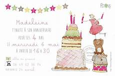 Carte D Invitation Anniversaire Fille G 226 Teau F 234 Tons 231 A 2 0