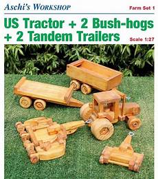 Wooden Farm Tractor Plans Scrolling Toys Models