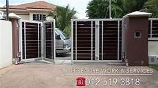 auto gate motor with alarm system youtube