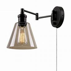 globe electric leclair 1 light dark bronze plug in or hardwire industrial wall sconce 65311