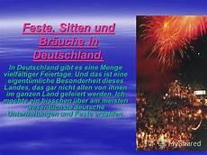 bräuche in deutschland презентация на тему quot feste sitten und br 228 uche in