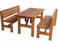 Gartenmöbel Set Holz - gartenm 246 bel set wien holz 3 teilig braun jetzt kaufen
