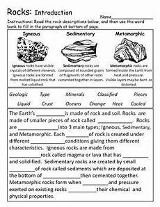 earth science prologue worksheets 13357 rock introduction and investigation activity center products rock cycle investigations