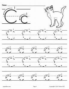 letter c tracing worksheets for preschool 23580 printable letter c tracing worksheet with number and arrow guides supplyme