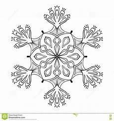 vector snow flake in zentangle doodle style mandala for