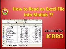how to read excel file into matlab youtube