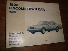 auto repair manual free download 1990 lincoln continental mark vii interior lighting ford 1992 lincoln town car electrical vacuum trouble shooting manual mwi ebay