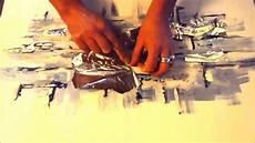 décaper peinture acrylique speed painting 2 tableau abstrait banquise peinture