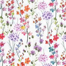 small flower wallpaper for wall white multicoloured small floral print 100 cotton 150cm