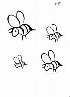 vier bienen ausmalbild malvorlage sonstiges