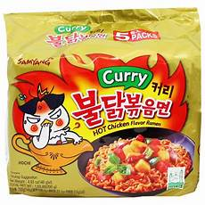 samyang spicy chicken curry ramen 5 4 9 oz 140g yummy bazaar