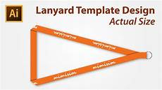lanyard card template free lanyard template design using adobe illustrator