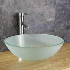 Cloakroom Frosted Glass Ferrara 350mm Bathroom Basin