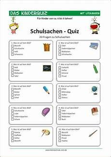 Malvorlagen Grundschule Quiz Schulsachen Quiz F 252 R Kinder F 252 R Kinder 6 9 Quiz