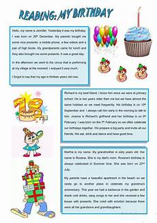 my birthday worksheets 20260 reading my birthday 2 pages worksheet free esl printable worksheets made by teachers