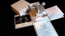 Exploding Box Wedding Invitation snow exploding box wedding invitation