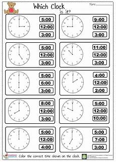 worksheet for kindergarten about time 3598 tell the time worksheet preschoolplanet