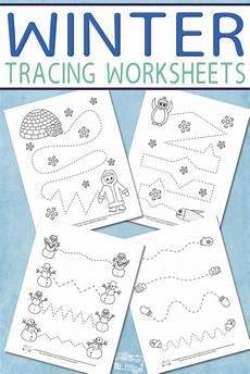 winter pre writing worksheets 20124 winter tracing worksheets for winter activities for worksheets for tracing
