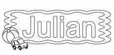 kostenlose malvorlage beliebte jungennamen julian zum