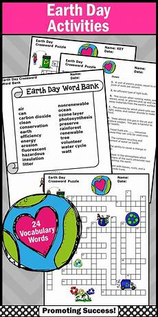 earth science worksheets elementary 13237 earth day activities supplement science crossword puzzle worksheet earth day activities