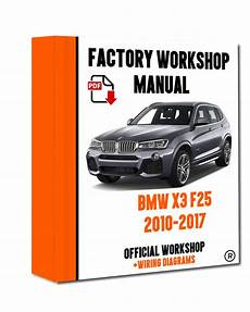 car repair manuals online pdf 2012 bmw 1 series security system gt gt official workshop manual service repair bmw series x3 f25 2010 2017 7625694359864 ebay