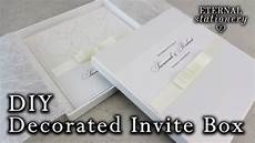 how to decorate your own invitation box with a bow