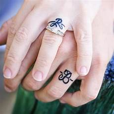 35 sweet simple wedding band tattoos