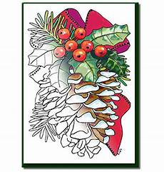 christmas cards for coloring by adults and children a6