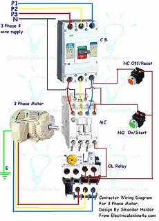 New Contactor Wiring Diagram Single Phase Diagram