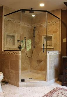 Corner Shower Ideas For Bathroom by Like The Shower Frame Want Two Shower Heads Like