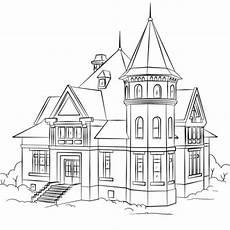 house coloring page m 228 rchenschloss haus zeichnung