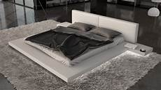 grand lit 200x200 grand lit design blanc simili cuir avec led 200x200 kiara
