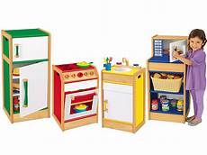 pretend play hardwood kitchen set at lakeshore learning