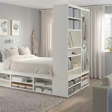 Platsa Cadre Lit Avec Rangement Blanc Ikea