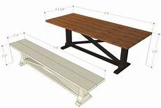Kitchen Bench Size by Remodelaholic Rustic X Dining Table And Bench Building Plan