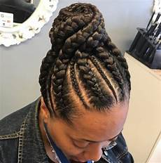 Updo Braided Black Hairstyles