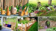 your garden 100 amazing diy wood log ideas for your garden diy