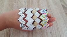 diy f 252 r kinder origami armband flechten mit papierstreifen
