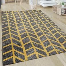 teppich gelb grau teppich kurzflor streifen grau gelb teppich de