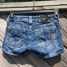 attractive kleiderschrank 3 50m miss me shorts size 26 embellished and distressed je