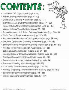 christmas math activities for middle school by lindsay