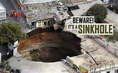 a that goes to hell these scary sinkholes swallow