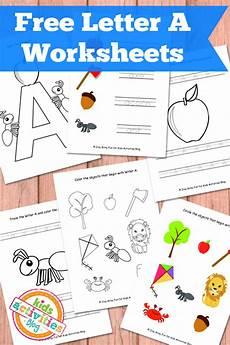 letter a worksheets free kids printables