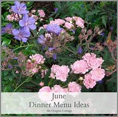 Cottage Dinner Menu by June Dinner Menu Ideas